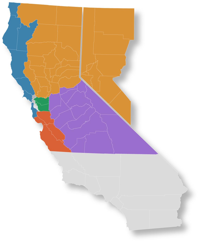 Northern California & Nevada Sales Team   Counties we Serve