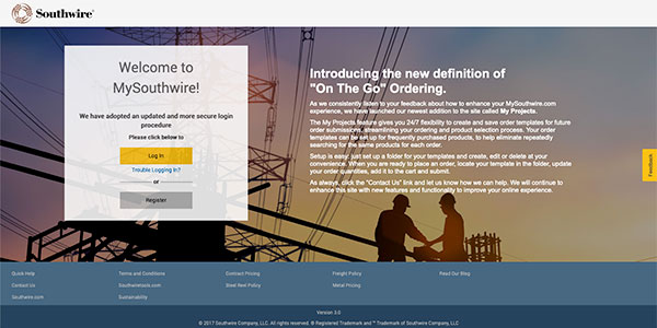Click here to access the Southwire portal